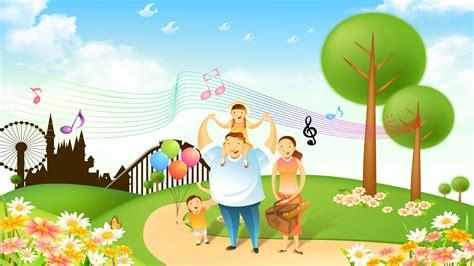 Wallpaper Cartoon Family | cartoon family wallpaper 8890