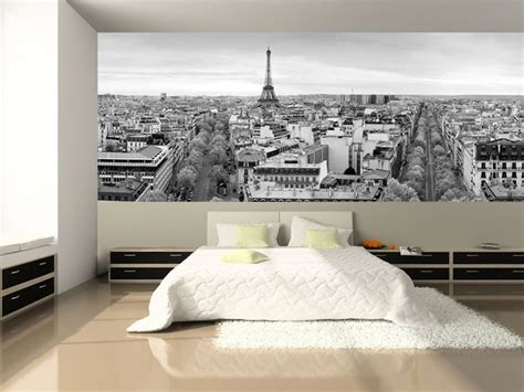 panoramic view  paris wall mural bedroom wallpaper bedrooms  murals