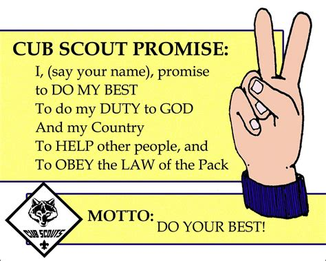 Scout Pledge Cub Scout Promise Printable With Motto 8x10 I Glued This