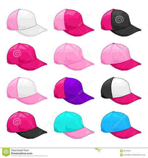 magenta color combination pink cap vector variety of fiusha and magenta color