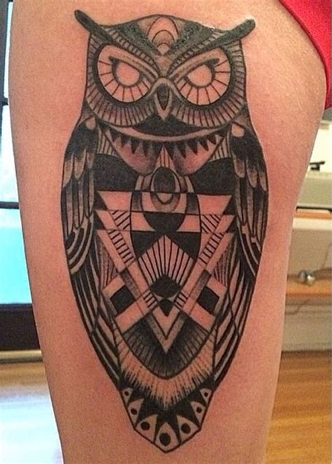 geometric owl tattoo 17 best forearm quotes on gaelic