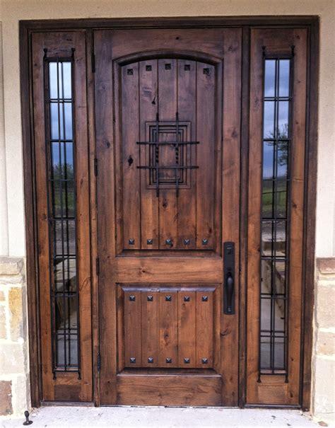 Speakeasy Front Door Rustic Wood Door 2 Panel Vgroove Madrid Speakeasy With Clavos And Sidelites Rustic Wood Doors