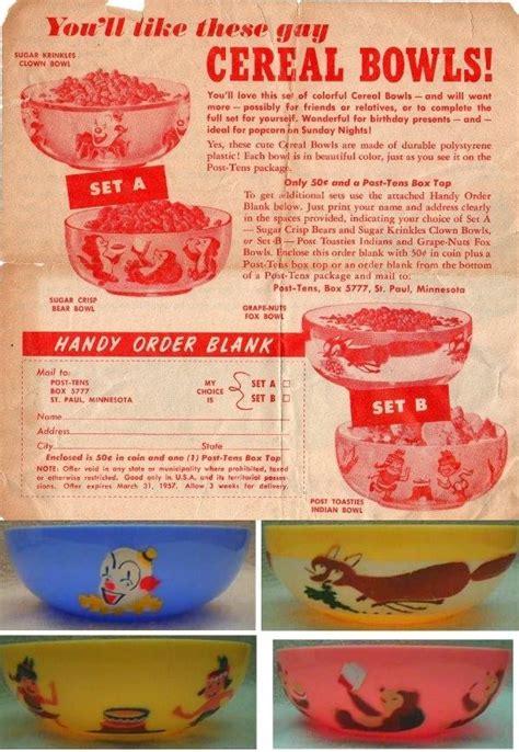 sugar crisp  sugar crisp gay cereal bowls