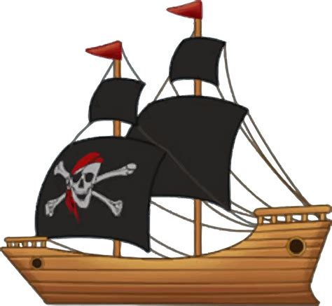 boat cartoon pirate sailing ship clipart baby pirate pencil and in color