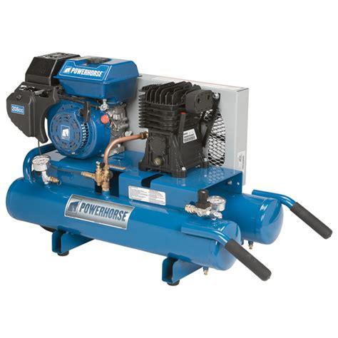 free shipping powerhorse gas tank air compressor 208cc engine 8 gallon gas powered