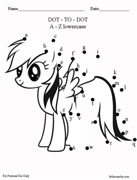 printable dot to dot exercises free worksheet my little pony dot to dot a little
