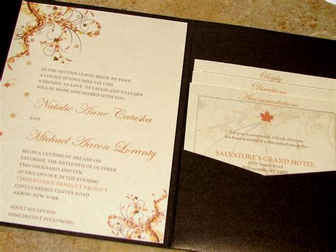 Fall Theme Wedding Invitations by Amazing Colors For Fall Wedding Invitations