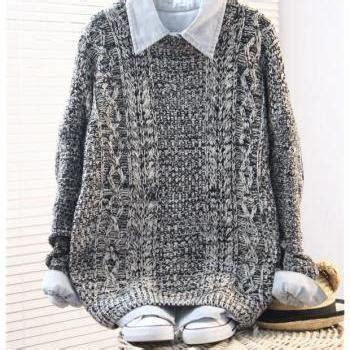 Bj 697 Color Grid Skirt A B C vintage twist colored sleeve sweater on luulla