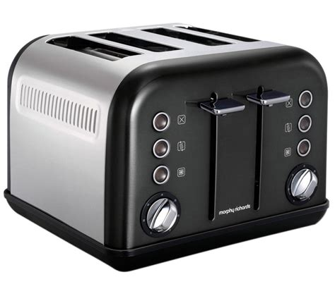 Morphy Richards Kettle And Toaster Black buy morphy richards accents 242002 4 slice toaster black accents 102002 traditional kettle
