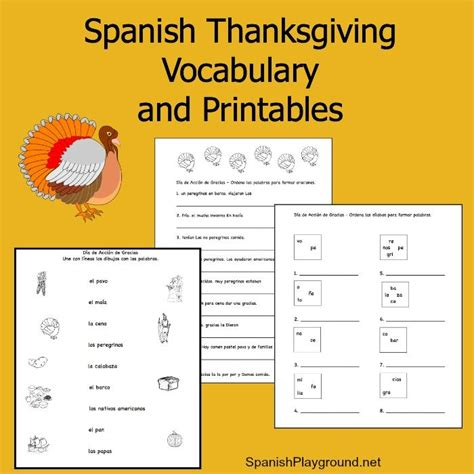 free printable spanish thanksgiving cards 1588 best spanish for kids images on pinterest