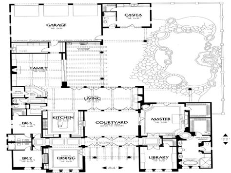 Style Home Plans With Courtyard by Small Style House Plans House Plans With