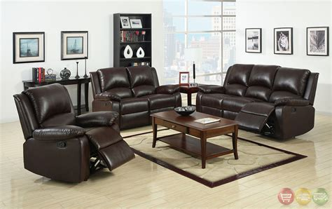 Brown Living Room Sets Oxford Traditional Rustic Brown Living Room Set With Plush Cushions Cm6555