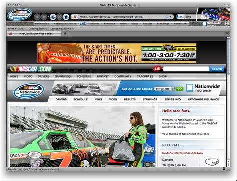 telecharger themes firefox t 233 l 233 charger nascar nationwide series firefox theme