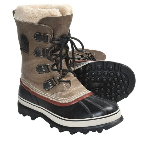 mens insulated boots sorel caribou reserve pac boots waterproof insulated