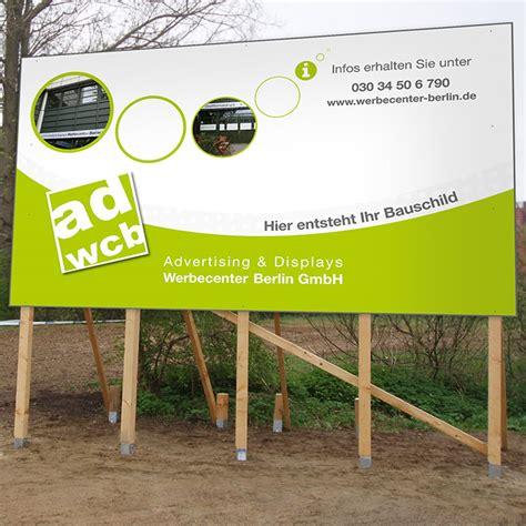 Bauschild Druck by Bauschild Mit Druck 200x100cm Bis 600x300cm Werbecenter
