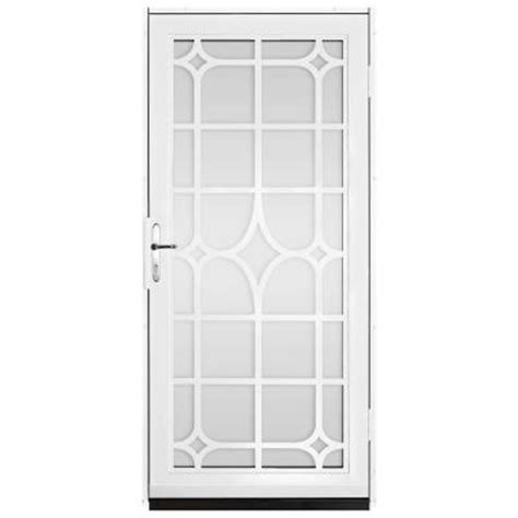 Glass Door Inserts Home Depot Unique Home Designs 36 In X 80 In White Surface Mount Steel Security Door With