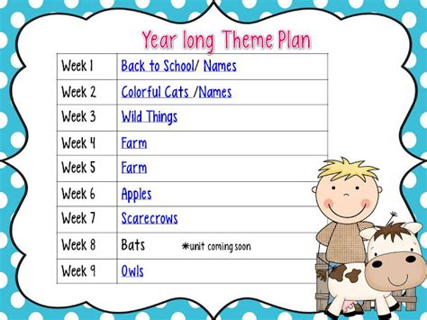 kindergarten yearly themes mrs jump s class first week of school year long plan