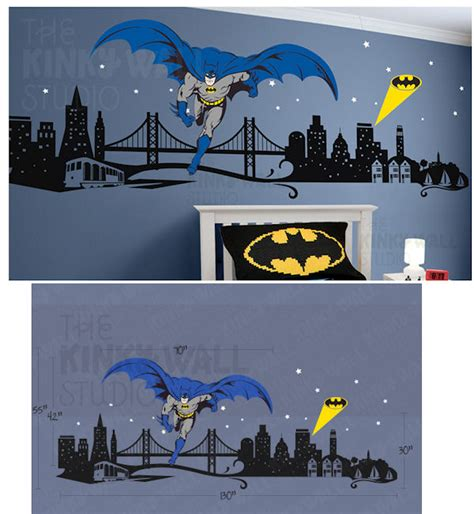 cityscape wall stickers batman cityscape wall decals