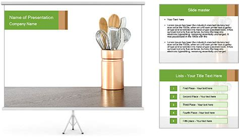 powerpoint templates kitchen kitchen equipment powerpoint template backgrounds id