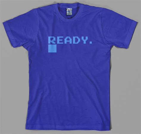 T Shirt Oshksh Ready commodore t shirt c64 micro computer ready logo