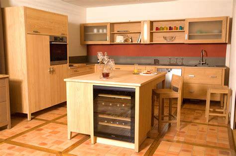 cuisine bois massif contemporaine cuisine contemporaine bois massif design ilot cuisine
