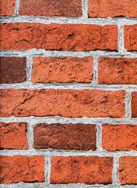 Printable Wall Murals brick effect red wallsorts