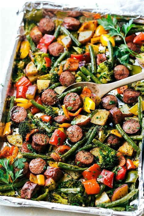 l vegetables sausage with vegetables recipe