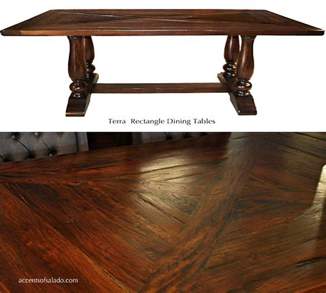terra dining room tables old world tuscan dining tables