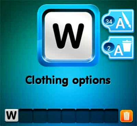 wordbrain themes clothing one clue clothing options 4 pics 1 word game answers