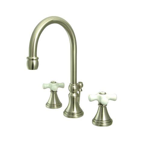 Satin Nickel Bathroom Faucet Shop Elements Of Design Satin Nickel 2 Handle Widespread