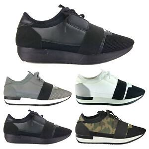 new mens designer style race runner mesh bali lace up trainers sneakers shoes ebay