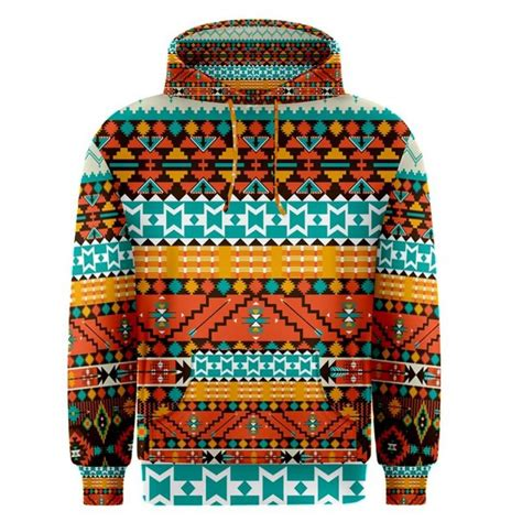 native pattern hoodies aztec tribal pattern sublimated sublimation hoodie s m l