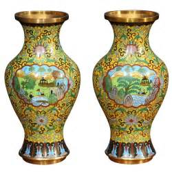 pair of cloisonne vases at 1stdibs