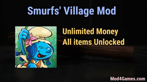 game offline mod unlimited money smurfs village hacked game mod apk free with offline obb