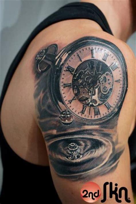 tattoo 3d zegar tatouage 201 paule r 233 aliste horloge par 2nd skin