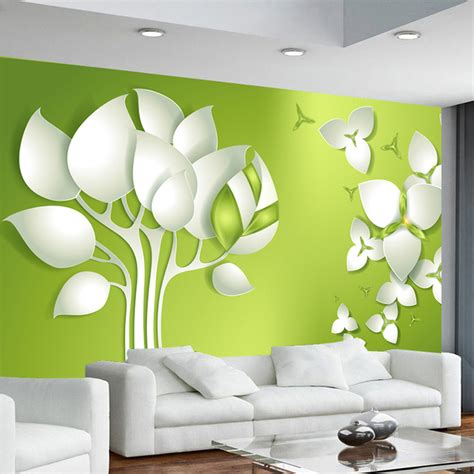 wallpaper abstract murals aliexpress com buy 3d stereo abstract tree flower tv