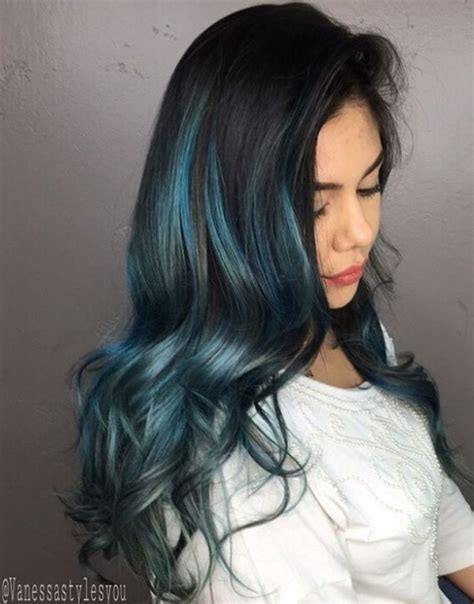 Blue Hairstyles by Gimme The Blues Bold Blue Highlight Hairstyles