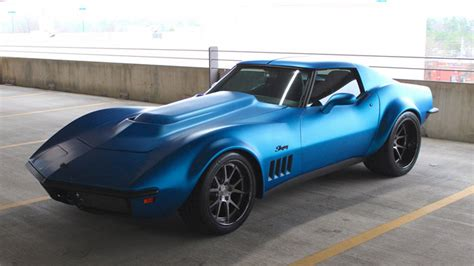 corvette stingray matte pics matte blue 1969 corvette stingray on forgeline