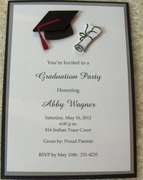 invitation card template graduation college graduation invitations invitations
