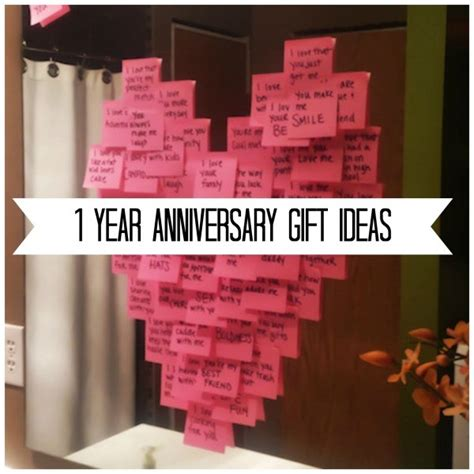 Ideas For 1 Year - gift ideas for your 1 year anniversary diy weddings