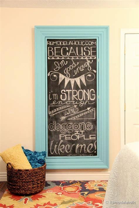 diy chalkboard wall frame remodelaholic 3 diy rustic frames