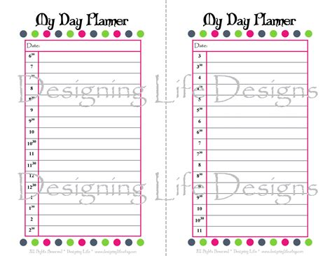 printable day planner sheets 7 best images of online agenda printable free printable