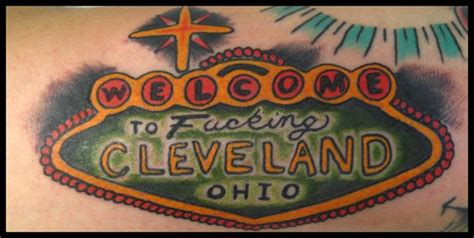 cleveland tattoo welcome to cleveland by joshua david tattoonow