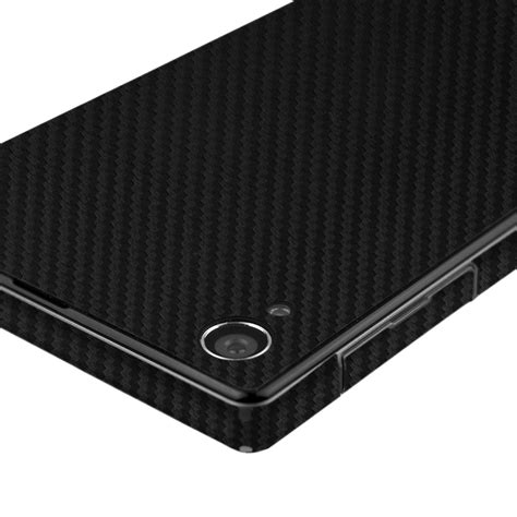 Skin Handphone Carbon Texture For Sony Xperia Zl skinomi techskin sony xperia z1 carbon fiber skin protector