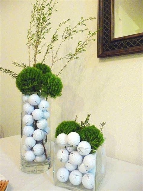 golf themed decor golf table decorations ideas photograph centerpieces2