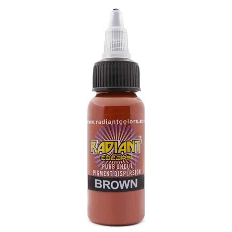 brown tattoo ink ink radiant colors brown