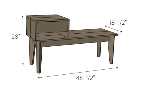 telephone table with bench telephone table free diy plans rogue engineer