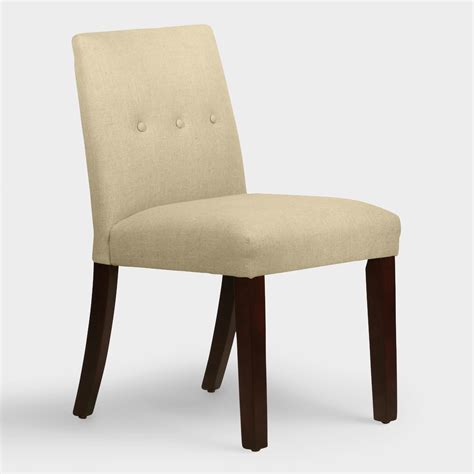Upholstered Linen Dining Chairs Linen Jule Upholstered Dining Chair World Market