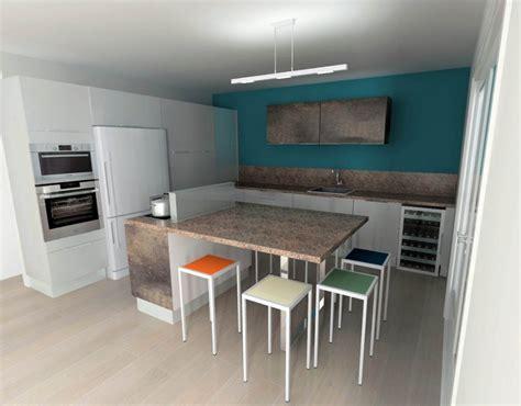 cuisine mur et gris cuisine blanche mur bleu canard