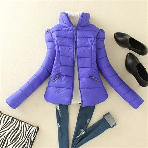 Stand Collar Padded Coat 2018 stylish s stand collar sleeve padded coat